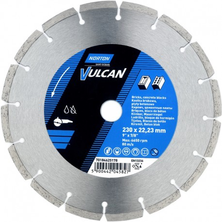 Disc diamantat Norton Vulcan Universal 230mm x 22,23mm